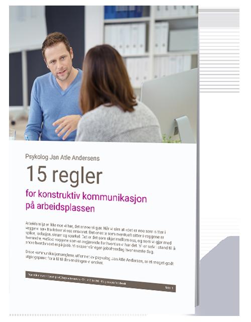 15 regler for konstruktiv kommunikasjon paa arbeidsplassen Forside.png